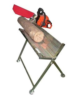 Simply clamp your chainsaw bar to the log horse, inside the protective sheath, and it will hold the weight of the saw and protect you from the chain. This log saw horse will make the task of wood cutting so much easier. | eBay!