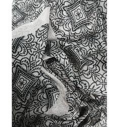 Geometric Flower Sand Scarf - The Scarves Company