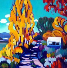 """Tracy Turner New Works Gallery.                              """"The little trailer"""".                                     Oil on panel."""