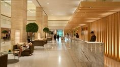 treating a big square pillar in the office lobby - Google Search