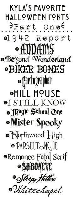 Free Halloween Fonts! #halloween