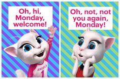 How do you feel about Mondays? #TalkingAngela #MyTalkingAngela #LittleKitties #Monday #Mondays #cute #ootd