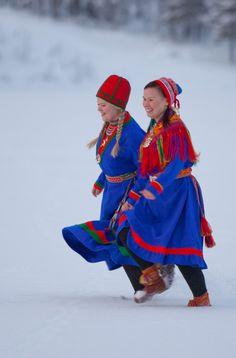 Sami, groupe de population localisé dans le Nord de la Scandinavie y compris en Norvège.