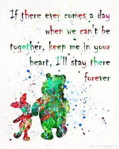Pooh, Winnie The Pooh Disney Watercolor Wall Art Poster - Prices from $9.95 - Click Photo for Details - #disney#watercolor#giftidea#christmasgifts #homedecor #Pooh #WinnieThePooh #piglet