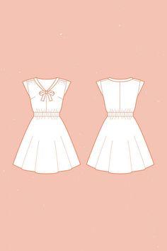 reglisse dress sewing pattern
