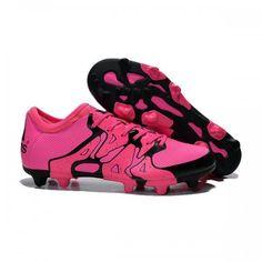 buy popular aec18 1dde7 2015 Nouveau Adidas X FGAG - Chaussures de Foot Noir Rose pas chere