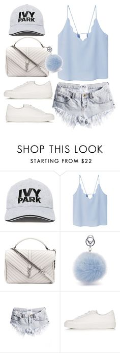 """Untitled #9495"" by katgorostiza ❤ liked on Polyvore featuring Ivy Park, MANGO, Yves Saint Laurent and Topshop"
