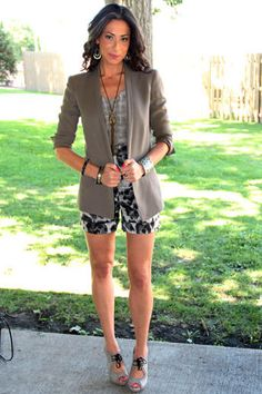 A lightweight blazer is a great piece that can be removed as the day gets…