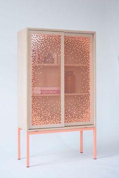 A cabinet that keeps your stuff half hidden