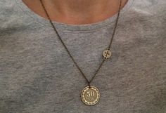 Armenian Dram and Cross Charm Necklace / Armenian by NicWhims
