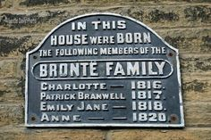 the famous bronte sisters  were born in thornton village west yorkshire