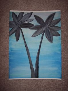 Palms+at+Dusk+by+SBTaunton+on+Etsy,+$12.00