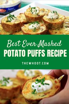 You'll Love These  Mashed Potato Puffs