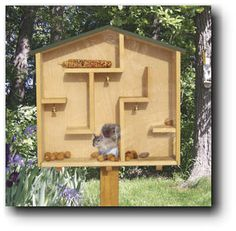 Squirrel House Woodworking Project. I can see many amusing squirrel watching hours ahead!