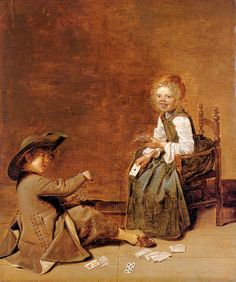 Dirck Hals (Дирк Халс, 1591-1656, Dutch Baroque Era painter). Dirck Hals (1591–1656) CHILDREN PLAYING CARDS