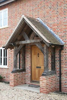 Oak Porch - Sawn Oak