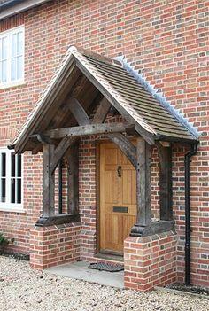 Oak Porch - Sawn Oak