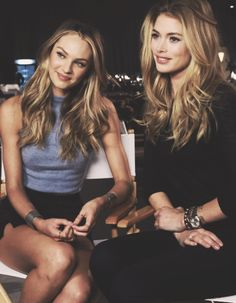 Candice Swanepoel and Doutzen Kroes. Both beautiful. Wow! ♥
