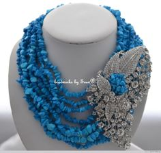 No matter the type of blue coral or beads you require, here are some fabulous designs in different shades of blue to inspire you! Photo credit:SeunD's Beads, Beads and Parties Collection II by Nikki Glamore you can find both of them on... #coralbeadjewelry #coralbeadnecklace #nigerianbeadnecklace