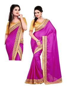 Indian Women's Fashion clothing accessories and Satin Saree, Discount Deals, Bollywood Saree, Party Wear Sarees, Sarees Online, Sari, Fancy, Indian, Purple