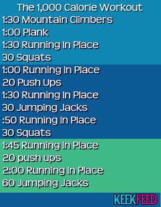 Try this easy workout that'll burn 1000 calories each time and let us know how it works for you!