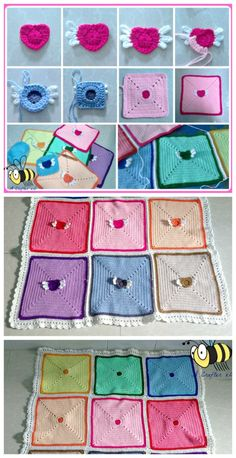 Angel Heart Baby Blanket, free crochet pattern by Maz Kwok Designs