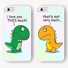 Funny Cute Best Friends BFF Dinosaurs Matching Hard Phone Case Cover for iPhone - BFLF phone cases - Hard Phone Cases, Diy Phone Case, Iphone Cases, Cellphone Case, Iphone Charger, Iphone 8, Windows 10 Gratis, Iphone 7 Plus, Phone Cases