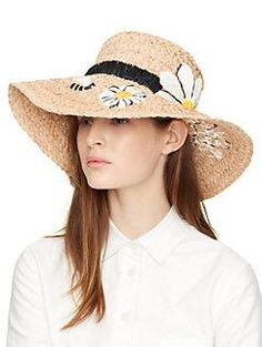 embroidered daisy sunhat by kate spade new york