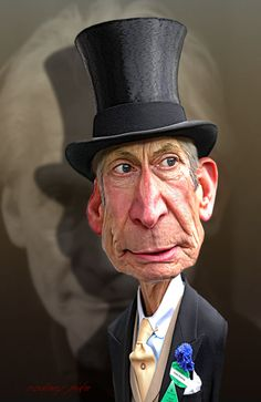 one day at a time caricactures | Charlie Watts of The Rolling Stones