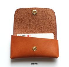 Handmade Leather Cardholder in Tanned Brown from Koncept on Storenvy