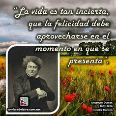 #EfemérideLiteraria En 1802 nace #AlejandroDumas. #Literatura #Novela #ElCondedeMontecristo www.sombradelaire.com.mx