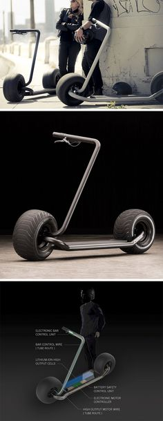 This is Stator, the self-balancing, fully electric, an absolute monster of a machine that you never knew you wanted, until now! Housed within Stator's rear wheel is a Direct Drive 3 Phase Brush D Yanko Design, Velo Retro, Drift Trike, Bike Design, Scooter Design, Mini Bike, Bugatti Veyron, Electric Scooter, Go Kart