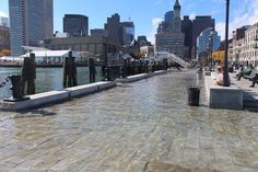 """King Tide"" Brings Record Sea Level Rise to Boston's Waterfront - Credit Rebecca Herst — at Long Wharf."