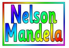 Set of 17 posters giving a biography of Nelson Mandela