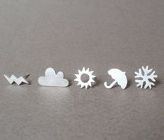 Weather Earrings Set-- reminds me of Ms. Frizzle