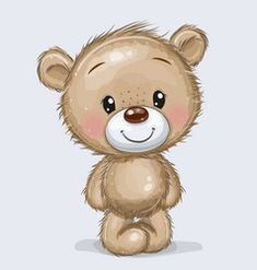 Cute Cartoon Teddy Bear isolated on a white background , Teddy Bear Drawing, Cute Bear Drawings, Cartoon Cartoon, Cartoon Drawings, Teddy Bear Tattoos, Teddy Bear Images, Bear Clipart, Bear Graphic, Baby Clip Art