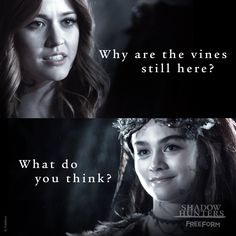 "S2 Ep14 ""The Fair Folk"" - The Queen's smirk says it all... #Shadowhunters"