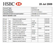 Free Bank Statement Template Formats Excel Word Sample 12 Doents In Pdf 9