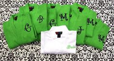SET OF 8  Monogrammed  Robes  Waffle Weave Robe  by MisterandMrs, $279.60
