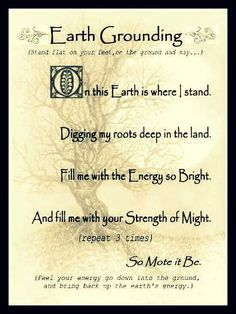 Grounding deep and cherishing Mother Earth... once again