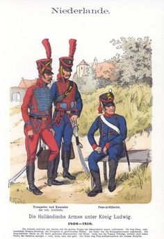 Knötel-Tafel 5/37  Niederlande. Die Holländische Armee unter König Ludwig. Artillerie. 1806-1810.