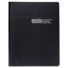"Recycled Academic Weekly/monthly Appointment Book/planner, 5"" X 8"", Black, 2016-2017"
