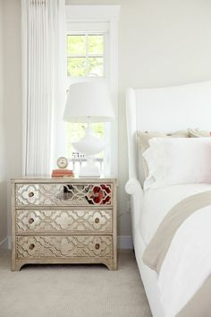Glam! Loving this bedroom by Jillian Harris.