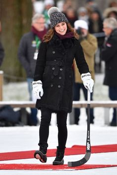 Wills and Kate attend Bandy hockey event