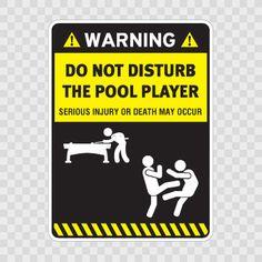 Sticker Do Not Disturb The Pool Player