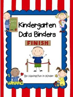All you need to begin using Kindergarten Data Binders, Kindergarten Data Notebooks, or Kindergarten Leadership Notebooks is included in this packet.  Students will be excited to track their academic, personal and social growth throughout the year.  It will also give you excellent data about your students progress in meeting many common core standards because the standards addressed are listed on each page.