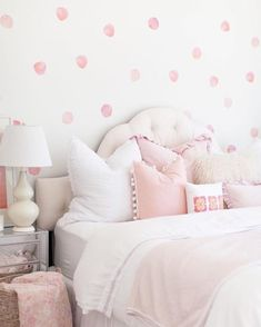 Details about NEW Coral and Pink Watercolor Polka Dots- Wall Decal Home Decor by UrbanWalls. NEW-Coral-and-Pink-Watercolor-Polka-Dots-Wall-Decal-Home-Decor-by-UrbanWalls. Polka Dot Walls, Polka Dot Wall Decals, Pink Polka Dots, Polka Dot Room, Wall Stickers, Teen Girl Bedrooms, Big Girl Rooms, Pink Walls, Beige Walls