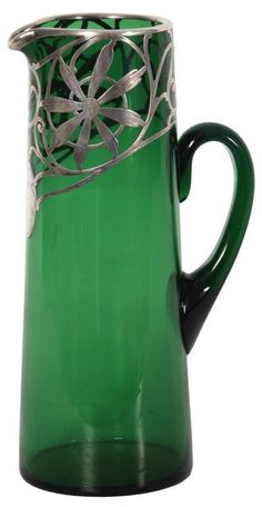 Sterling Silver Overlay Pitcher : Lot 119