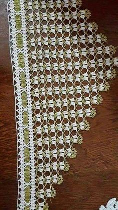 This Pin was discovered by Lal Baby Boy Knitting Patterns, Crochet Stitches Patterns, Lace Patterns, Dress Patterns, Crochet Borders, Filet Crochet, Crochet Shawl, Crochet Curtains, Crochet Pillow