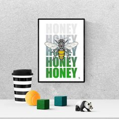 bee, art, honey, queen, drawing, save the, illustration, print, cute honey, aesthetic, simple bumble, yellow, digital download, #honeybee #bee Honey Bee Home, Queen Drawing, Bee Art, Frame It, Queen Bees, Hanging Art, Printable Wall Art, Art For Sale, Butterflies